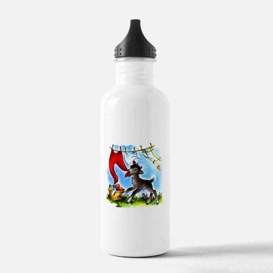 Funny Clothesline Goat Water Bottle