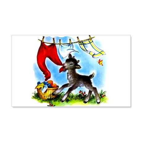 Funny Clothesline Goat 22x14 Wall Peel