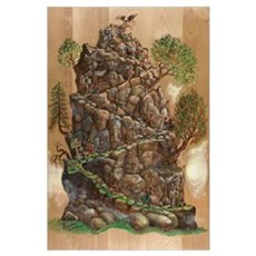 Eagle Mountain Climb Progress Mini-Print Poster