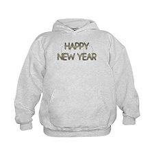 New Year - Golden Elegance - Boston Terrier Hoodie