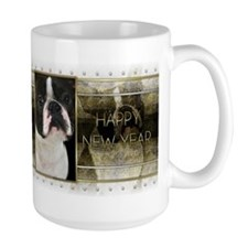 New Year - Golden Elegance - Boston Terrier Mug