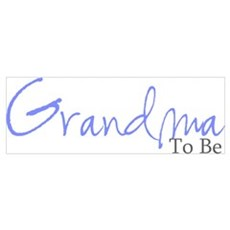Grandma To Be (Blue Script) Framed Print