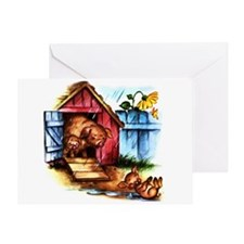 Piggy Piglets Baby Pigs Greeting Card