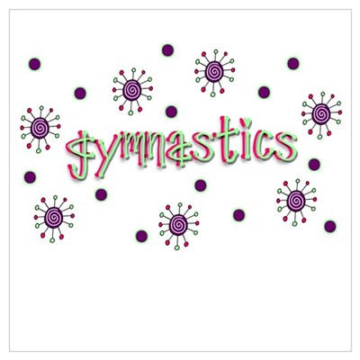 Gymnastics Dots Framed Print
