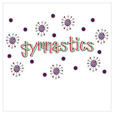Gymnastics Dots Poster