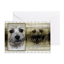 New Year - Golden Elegance - Cairn Greeting Card