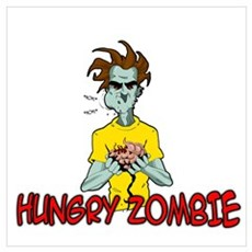 Hungry Zombie Poster