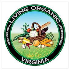 Living Organic Virginia Poster