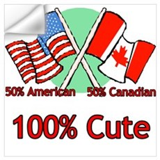 Canadian American 100% Cute Wall Decal