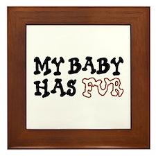 'My Baby Has Fur' Framed Tile
