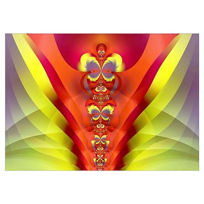 """""""Totem"""" Fractal Art Poster"""