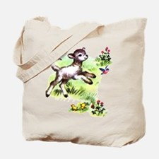 Cute Baby Lamb Sheep Tote Bag