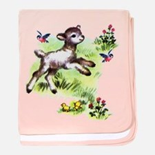 Cute Baby Lamb Sheep baby blanket