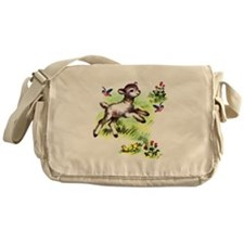 Cute Baby Lamb Sheep Messenger Bag
