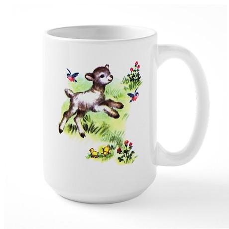 Cute Baby Lamb Sheep Large Mug