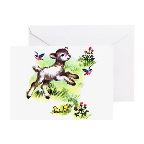 Cute Baby Lamb Sheep Greeting Cards (Pk of 20)