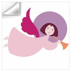 Angel in pink robe Wall Decal