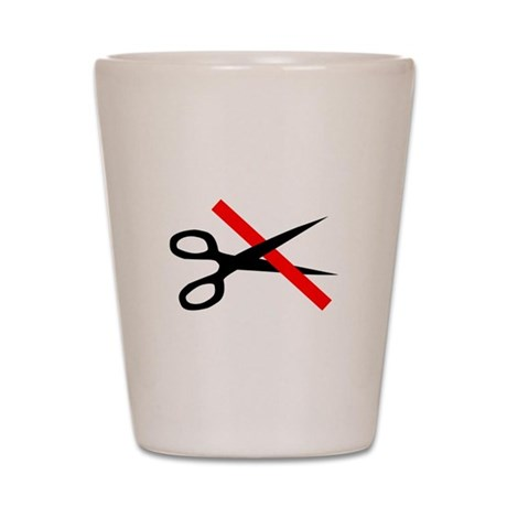 CUT THROUGH THE RED TAPE Shot Glass