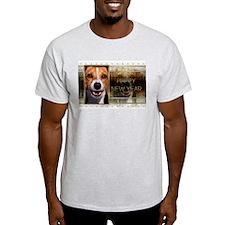 New Year - Golden Elegance - Beagle T-Shirt