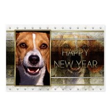 New Year - Golden Elegance - Beagle Postcards (Pac