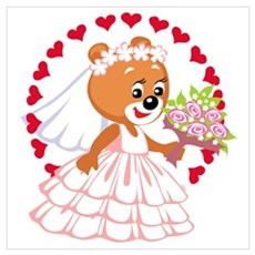 Teddy Bear Bride Poster