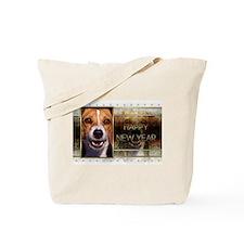 New Year - Golden Elegance - Beagle Tote Bag