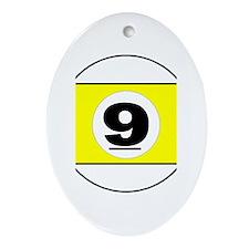 NINE BALL Ornament (Oval)