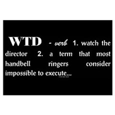 Watch the Director Black Framed Print