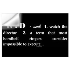 Watch the Director Black Wall Decal