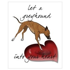Greyhound Heart Framed Print