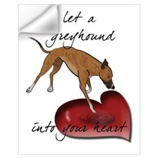 Greyhound Heart Wall Decal