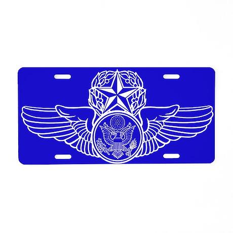 Air Force Master Aircrew Aluminum License Plate