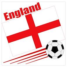 England Soccer Team Poster