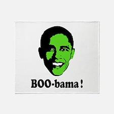 Halloween Boo Obama Throw Blanket
