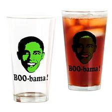 Halloween Boo Obama Drinking Glass