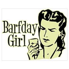 Yellow Barfday Girl Poster