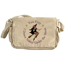 Dance Naked Under the Moon Messenger Bag