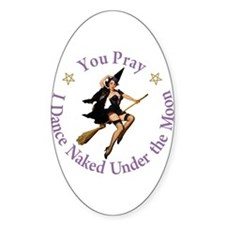 Dance Naked Under the Moon Decal