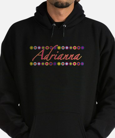 Adrianna with Flowers Hoodie (dark)