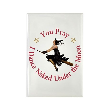 Dance Naked Under the Moon Rectangle Magnet (100 p