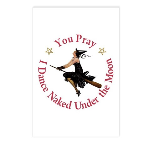 Dance Naked Under the Moon Postcards (Package of 8