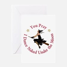 Dance Naked Under the Moon Greeting Card