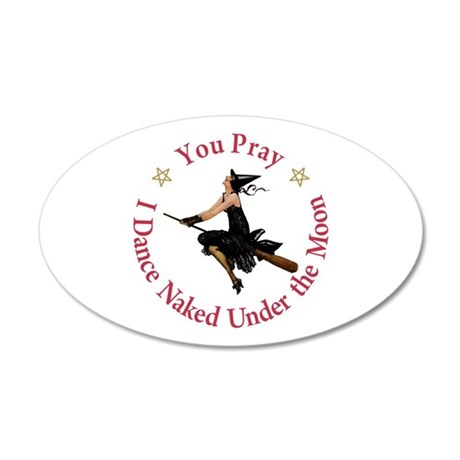 Dance Naked Under the Moon 35x21 Oval Wall Decal