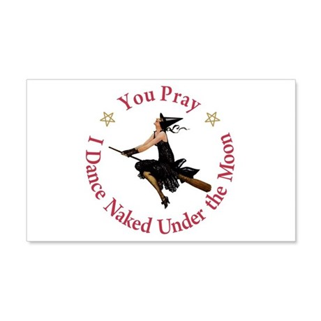 Dance Naked Under the Moon 20x12 Wall Decal