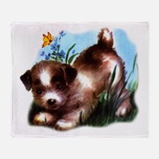 Cute Puppy Dog Throw Blanket