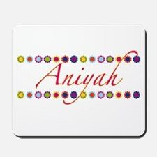 Aniyah with Flowers Mousepad