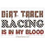 Dirt track racing Wrapped Canvas Art