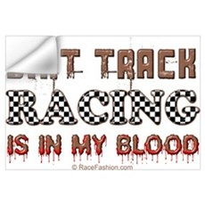 Dirt Track Racing Blood Wall Decal