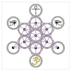 Star Tetrahedron Design Poster