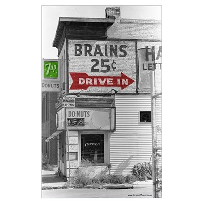 Small Brains 25 cents Framed Print